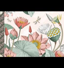 Gwenaëlle Trolez Créations Geïllustreerd notebook les Fleurs pastel