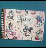Geïllustreerd notebook Alice in Wonderland