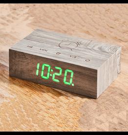 Ging-ko Click Clock Flip Sloophout met groene led