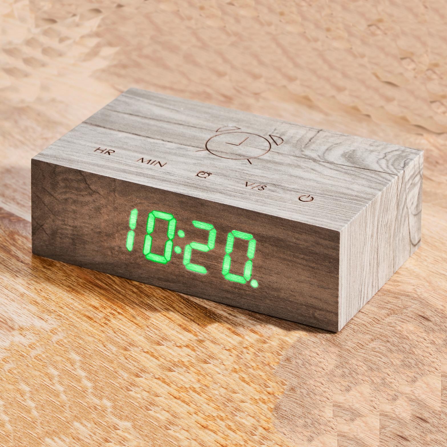 Click Clock Flip Sloophout met groene led