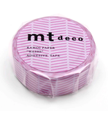 MT masking tape deco Diagonal purple