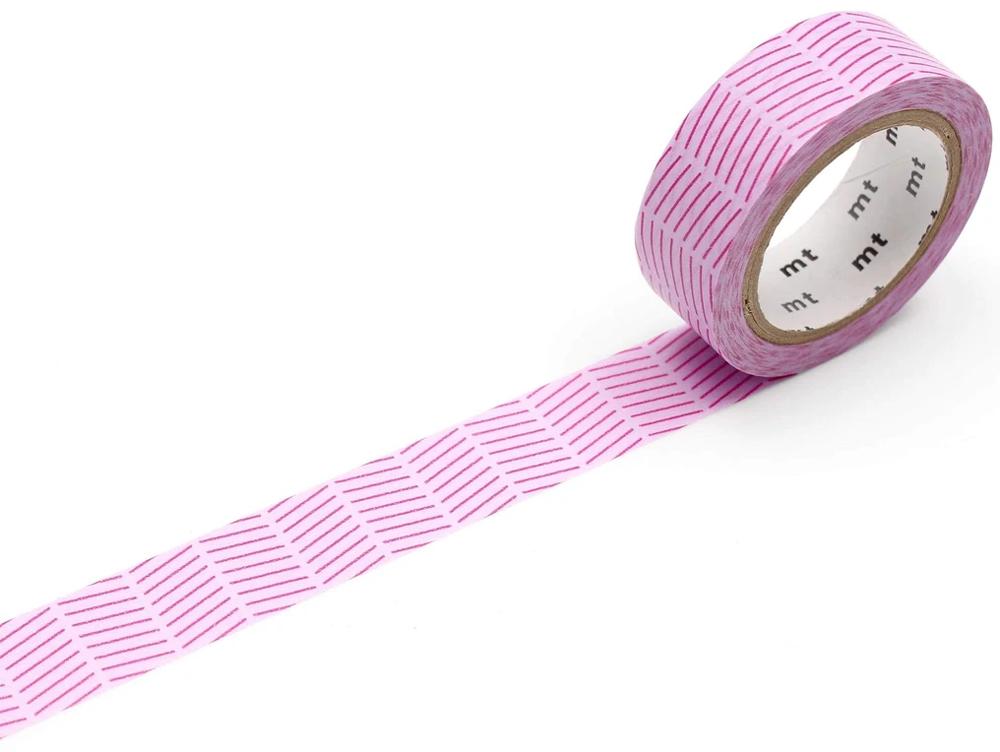 MT washi tape deco Diagonal purple
