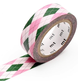 MT  MT washi tape deco Argyle pink