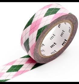 MT  MT washi tape deco Argyle pink