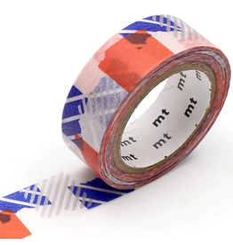 MT  MT washi tape deco Tsugihagi blue x orange