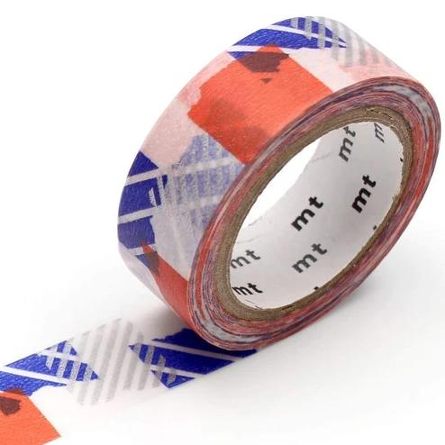 MT masking tape deco Tsugihagi blue x orange