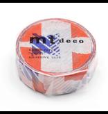 MT washi tape deco Tsugihagi blue x orange
