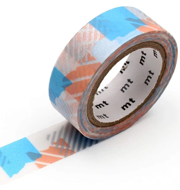 MT  MT masking tape deco Tsugihagi blue x pink