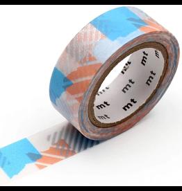 MT  MT washi tape deco Tsugihagi blue x pink