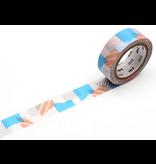 MT masking tape deco Tsugihagi blue x pink