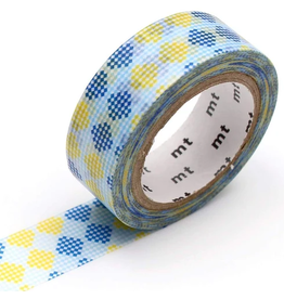 MT  MT washi tape deco Checkers stripe blue