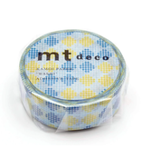 MT washi tape deco Checkers stripe blue