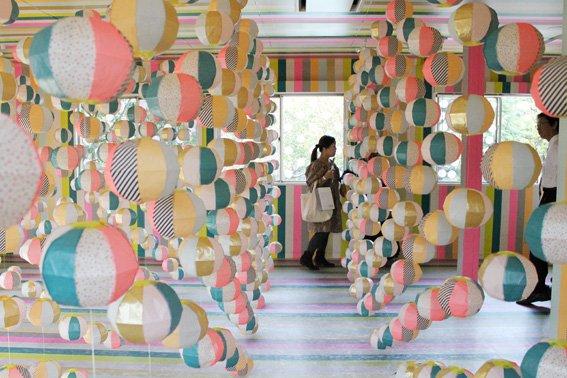 MT washi tape deco Half circle pink blue