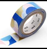 MT masking tape deco Half circle pink blue