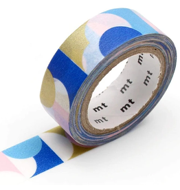 MT  MT washi tape deco Half circle pink blue
