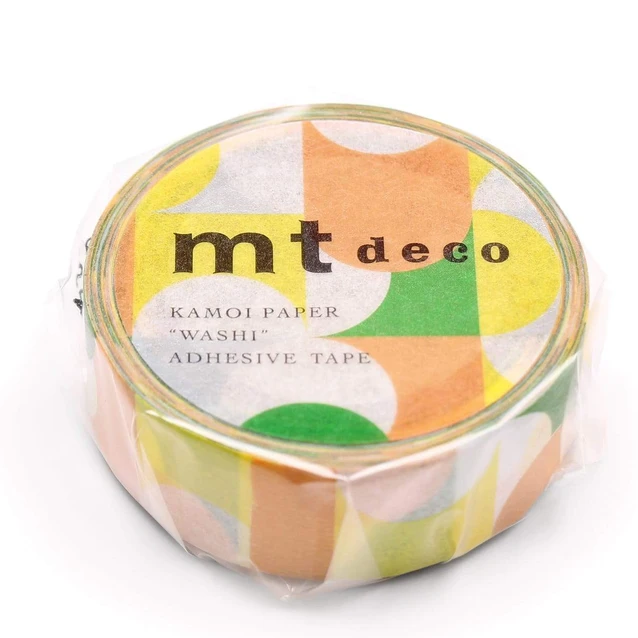 MT masking tape deco Half circle yellow green