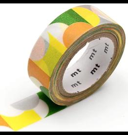 MT  MT masking tape deco Half circle yellow green