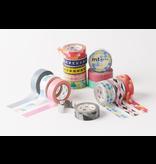 MT masking tape deco Separate check monochrome