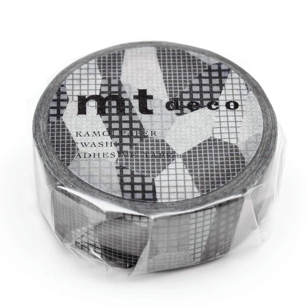 MT washi tape deco Separate check monochrome