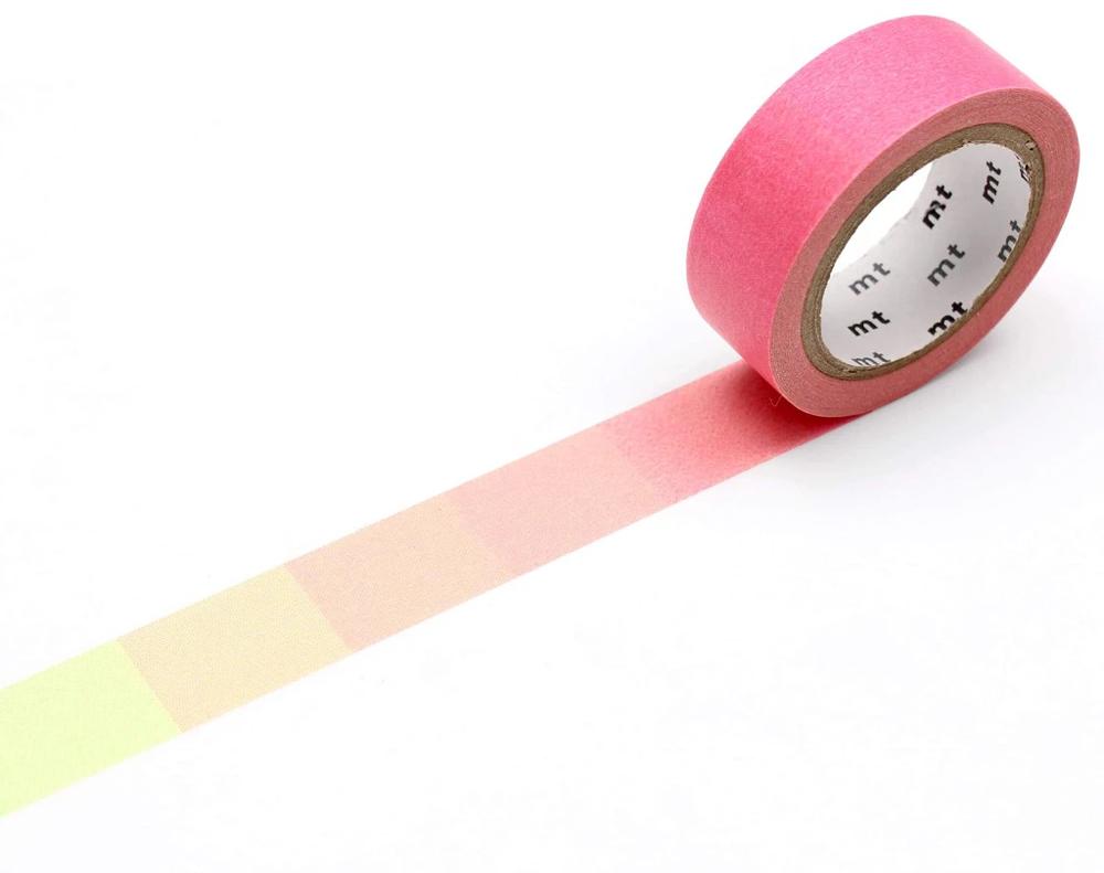 MT masking tape deco Fluorescent pink x green