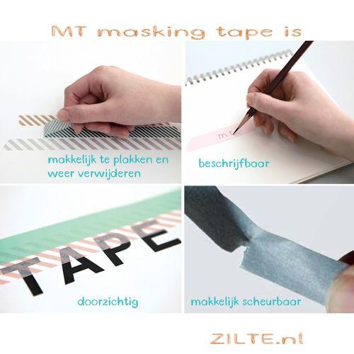 MT washi tape deco Fluorescent blue x yellow