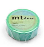 MT washi tape deco Fluorescent blue x yellow