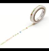 MT washi tape slim Flower line