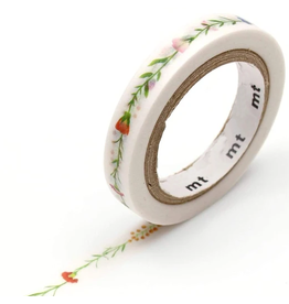 MT  MT washi tape slim Flower line