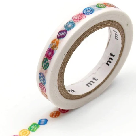 MT washi tape slim Drops line