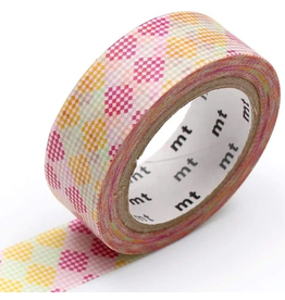 MT  MT masking tape deco Checkers stripe pink