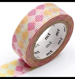 MT  MT washi tape deco Checkers stripe pink