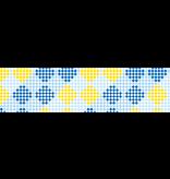 MT masking tape deco Checkers stripe blue