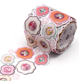 MT  MT washi tape Fab die-cut Flower & Pearl