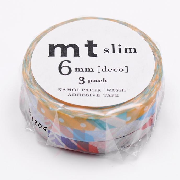 MT washi tape set slim deco zilver