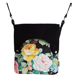 Huisteil creaties Happy tas XL Huisteil Black Rose