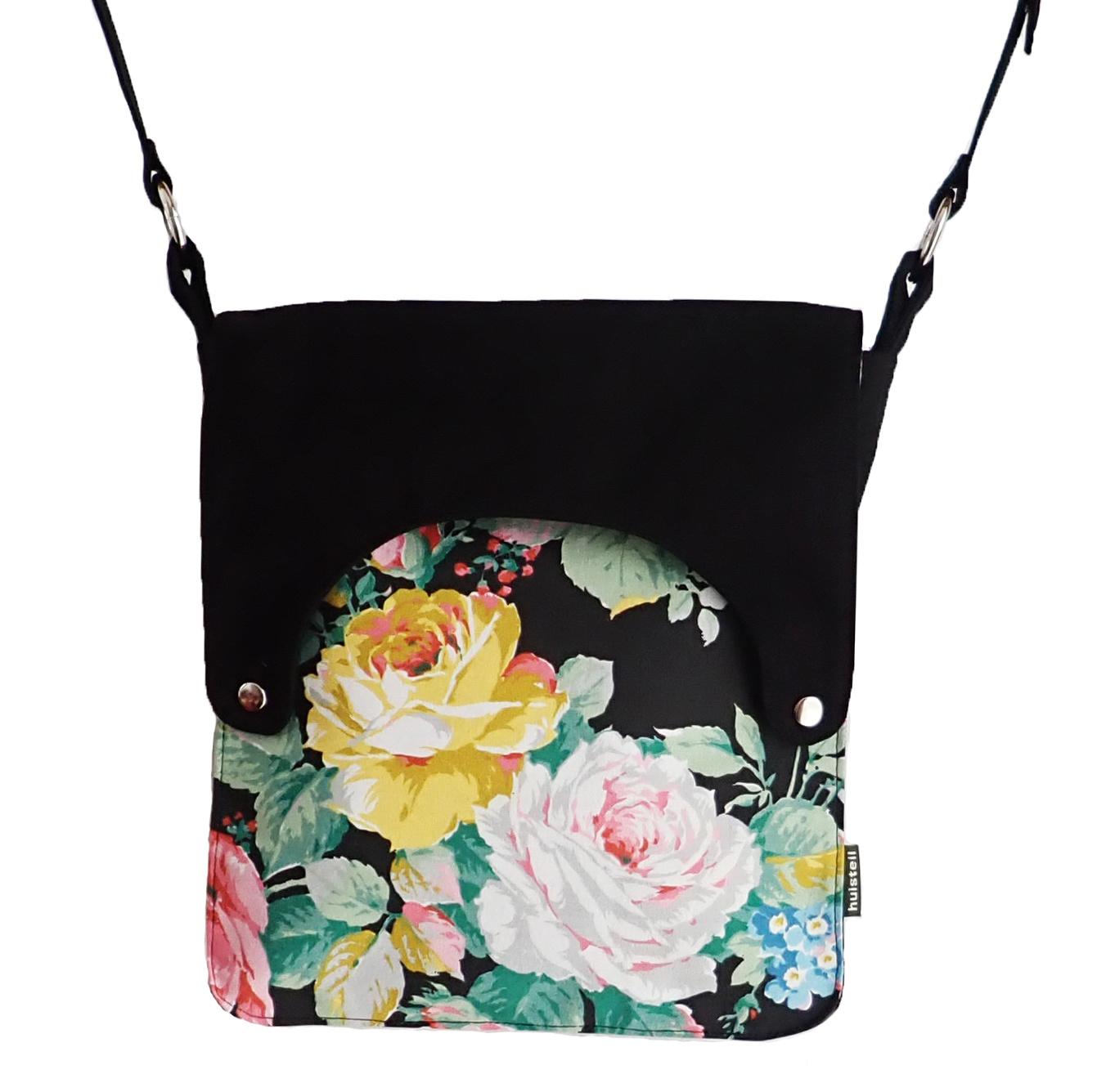 Happy tas XL Huisteil Black Rose