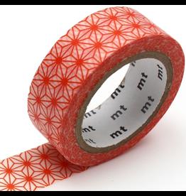 MT  MT washi tape deco Asanoha akadaidai