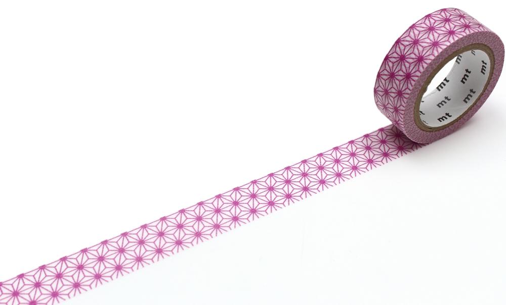 MT washi tape deco Asanoha wakamurasaki
