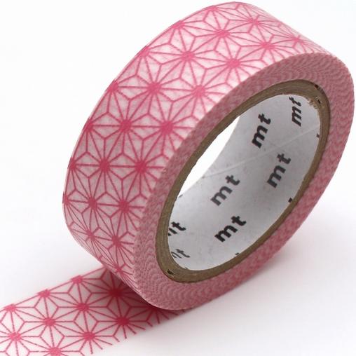 MT washi tape deco Asanoha momo