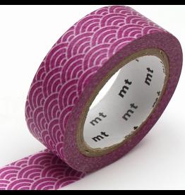 MT  MT washi tape deco Seigaihamon wakamurasaki