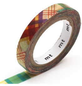 MT  MT washi tape slim Check line