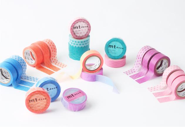 MT washi tape deco Fluorescent pink x blue