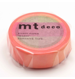 MT washi tape deco Fluorescent pink x yellow