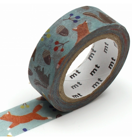 MT washi tape ex Embroidery fox & squirrel