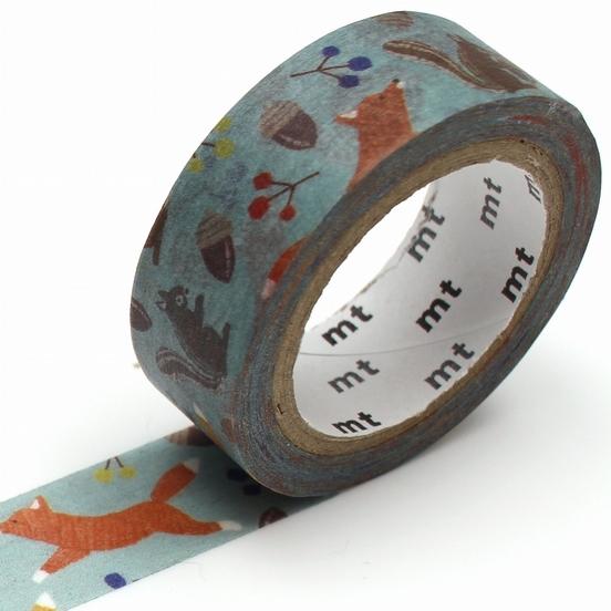 MT washi tape ex Embroidery fox & squirrel