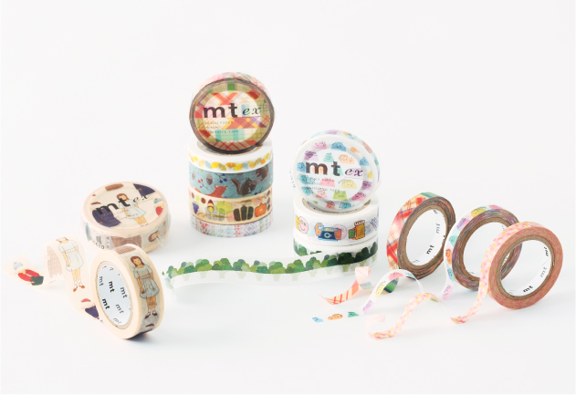 MT washi tape slim Ginkgo line