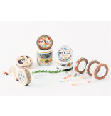 MT washi tape slim Half face