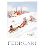Kaart Februari Elsa Beskow