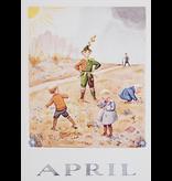 Kaart April van Elsa Beskow