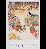 Kaart Augusti (Augustus) van Elsa Beskow